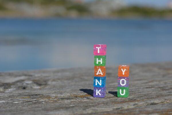 Puterea recunoştinţei - poză thank you