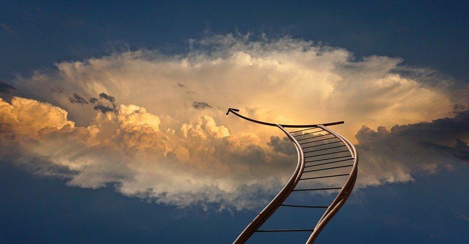 puterea obstacolelor - poză scară spre Cer