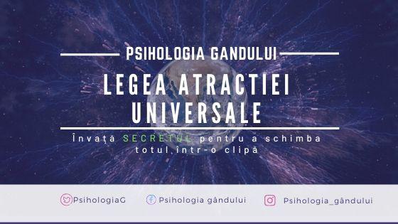 legea atractiei universale